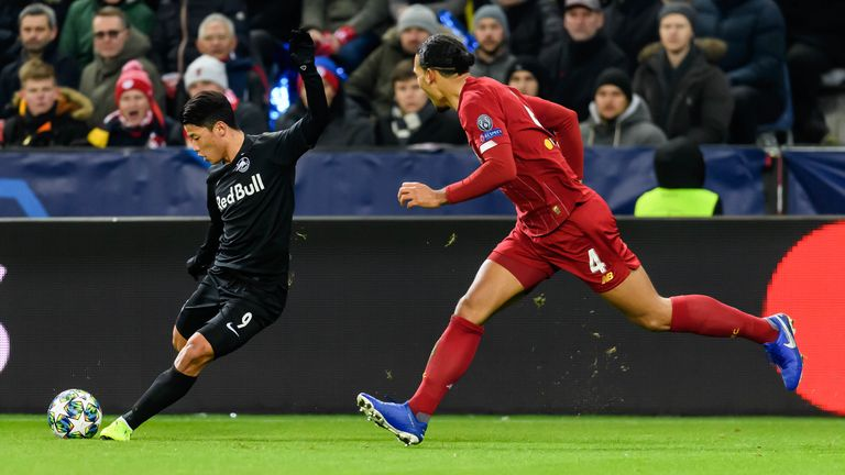 Hwang impressed in the Champions League against Liverpool this season