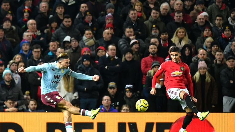 Jack Grealish puts Aston Villa ahead at Manchester United