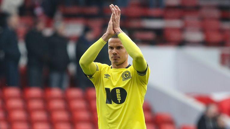 Jack Rodwell applauds Blackburn Rovers supporters