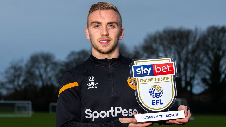 Jarrod Bowen won the Sky Bet Championship Player of the Month award for November