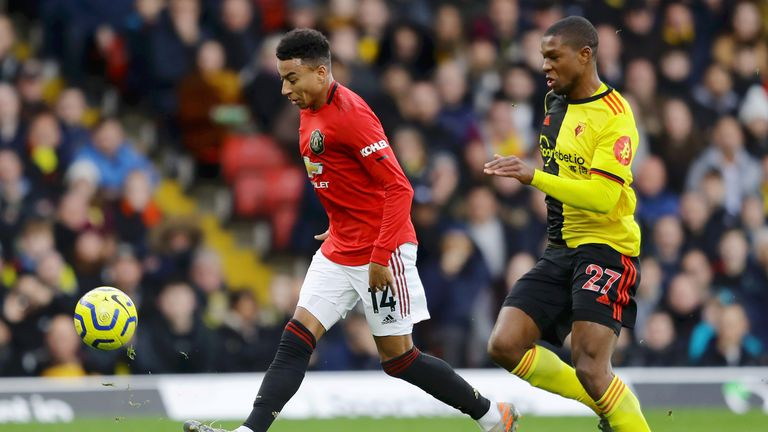 Jesse Lingard missed a glorious chance to put United in front after 34 minutes