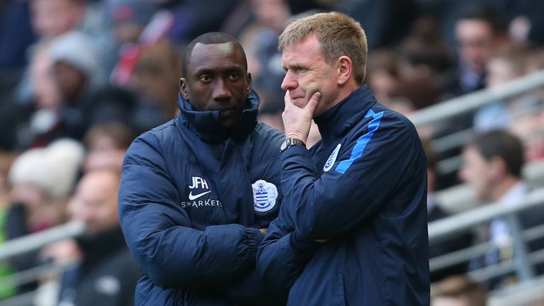 David Oldfield alongside Jimmy Floyd Hasselbaink during their time at QPR