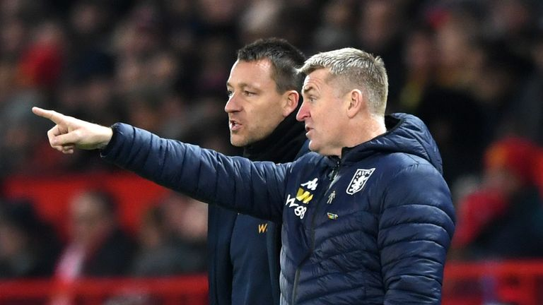 John Terry has been assistant manager at Aston Villa since October 2018 alongside Dean Smith