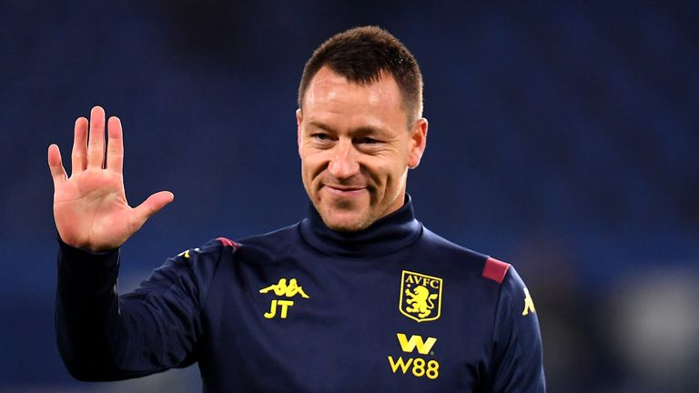 John Terry was given a warm welcome back at Stamford Bridge on Wednesday