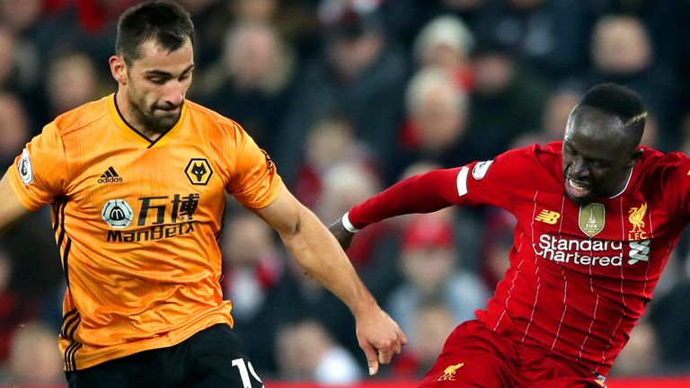 Wolves' Jonny was allegedly involved in an incident with an Anfield ball boy
