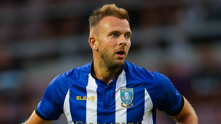 Jordan Rhodes scored a hat-trick for Sheffield Wednesday