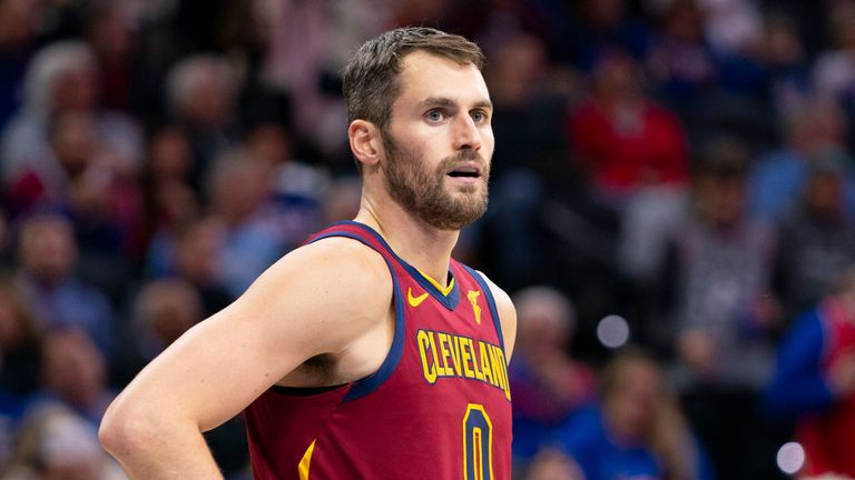 Kevin Love in action for the Cavs