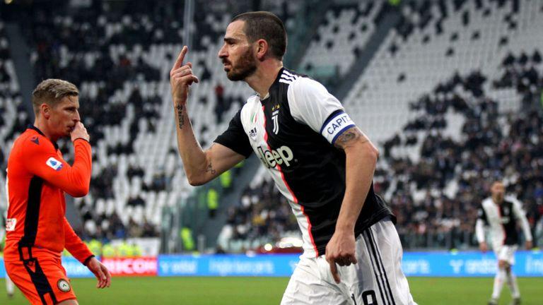 Leonardo Bonucci was also on target as Juventus defeated Udinese
