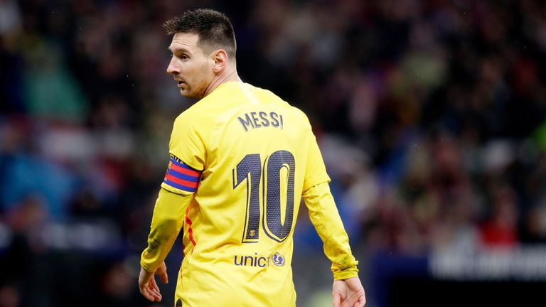 Lionel Messi scored the opener for Barcelona in the 86th minute