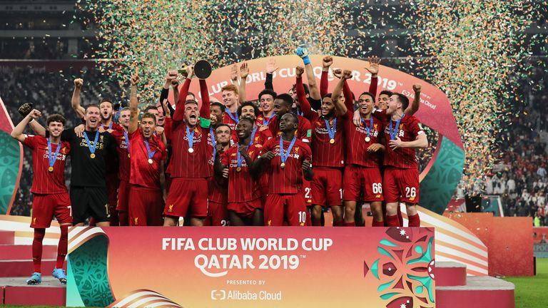 Liverpool celebrate their Club World Cup success