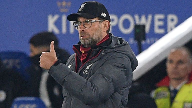 Liverpool manager Jurgen Klopp during the game against Leicester