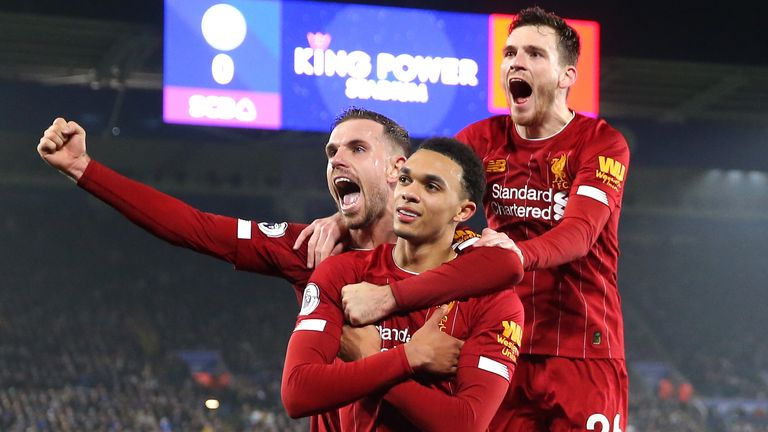 Alexander-Arnold starred in Liverpool's 4-0 win over Leicester in December