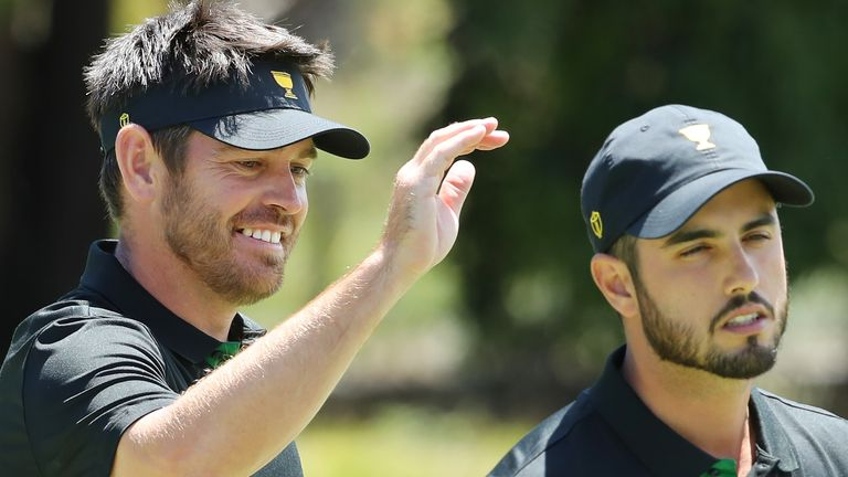 Oosthuizen and Ancer never trailed in their match, where the American pair only registered one birdie between them