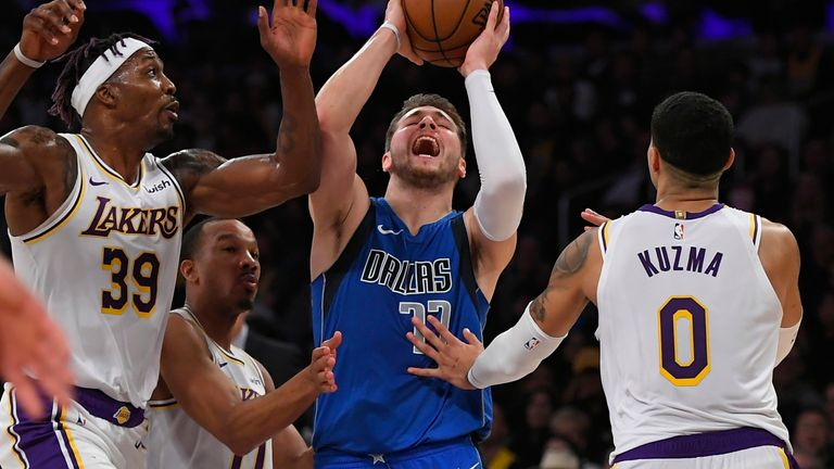 The Lakers defense did a great job on Doncic but it was a bruising evening for the reigning Rookie of the Year