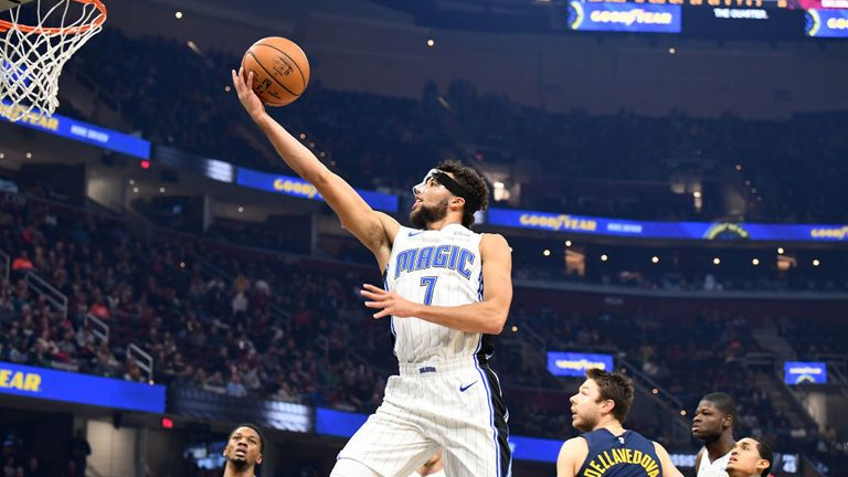 Orlando Magic against Cleveland Cavaliers in the NBA