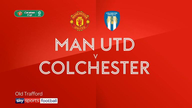 Man Utd v Colchester badge