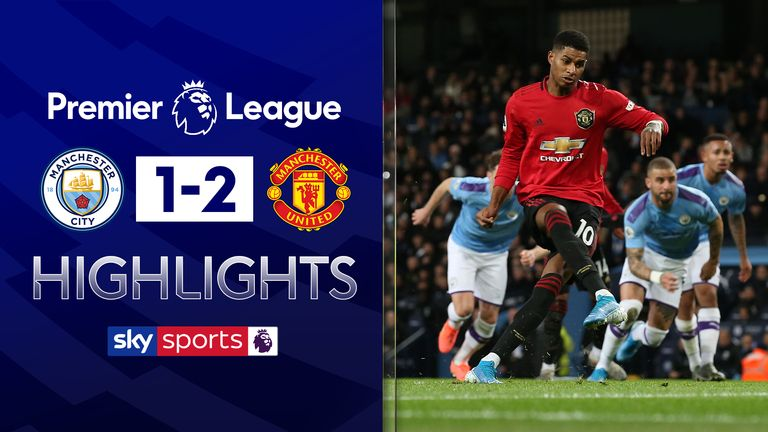 Highlights from Manchester City vs Manchester United in the Premier League