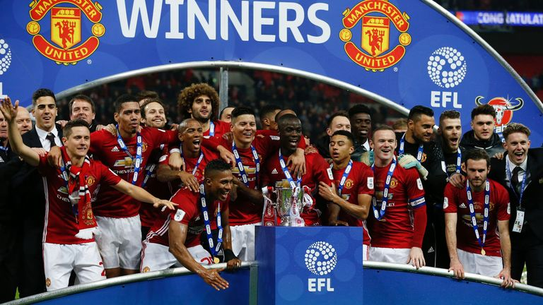 Manchester United last won the Carabao Cup in 2017