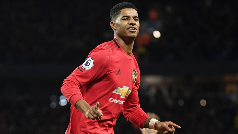 Marcus Rashford kept up his great scoring form with goal against City