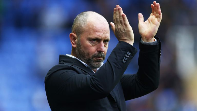 Mark Bowen, manager of Reading looks on during the Sky Bet Championship match between Reading and Derby County at Madejski Stadium on December 21, 2019 in Reading, England.