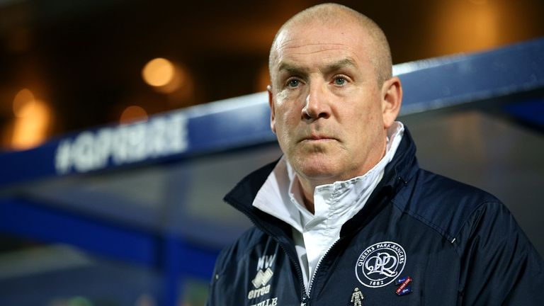 Mark Warburton, Manager of Queens Park Rangers looks on prior to the Sky Bet Championship match between Queens Park Rangers and Brentford at The Kiyan Prince Foundation Stadium on October 28, 2019 in London, England