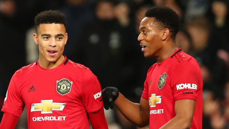 Mason Greenwood and Anthony Martial were both on target against Newcastle