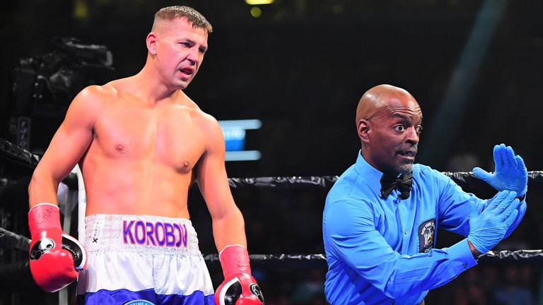 Matt Korobov was unable to continue in the second round