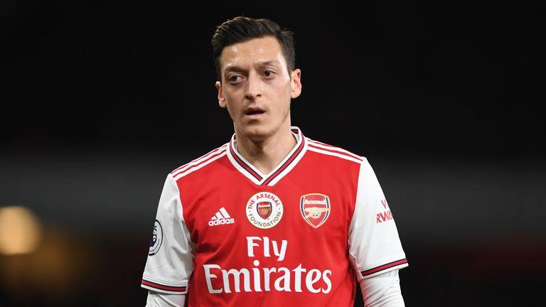 Mesut Ozil's Arsenal future looked bleak under former boss Unai Emery.