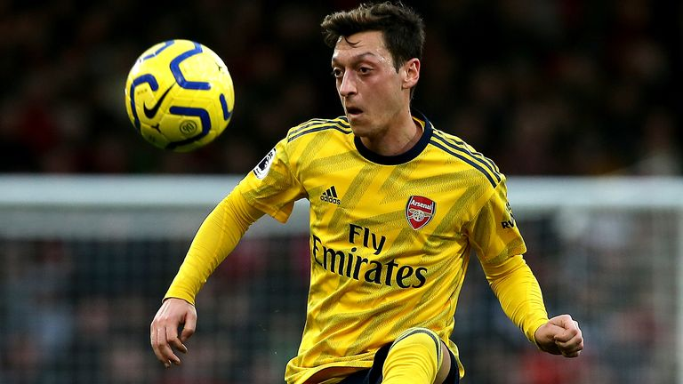 Mesut Ozil in action at the Vitality Stadium