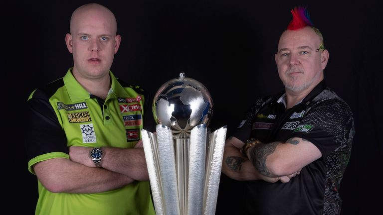 Michael van Gerwen will play Peter Wright in the World Darts Championship final on New Year's Day