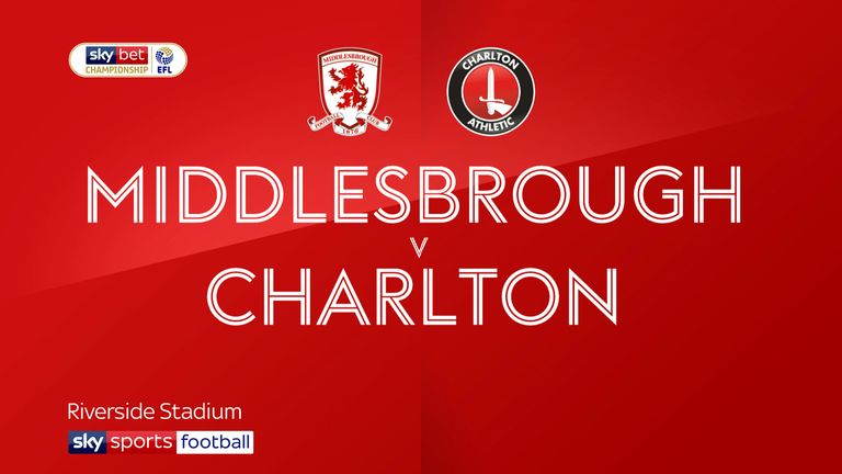 Middlesbrough v Charlton