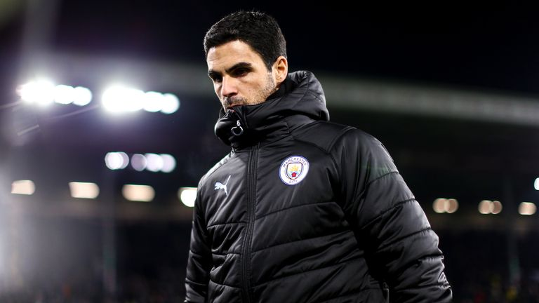 Arteta has been an assistant coach on Manchester City's coaching staff since 2016