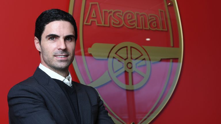 Mikel Arteta is unveiled as the new Arsenal head coach at London Colney