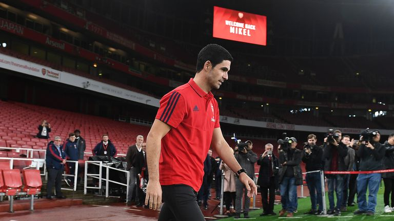 Mikel Arteta the Arsenal Head Coach is presented to the press at Emirates Stadium on December 20, 2019 in London, England.