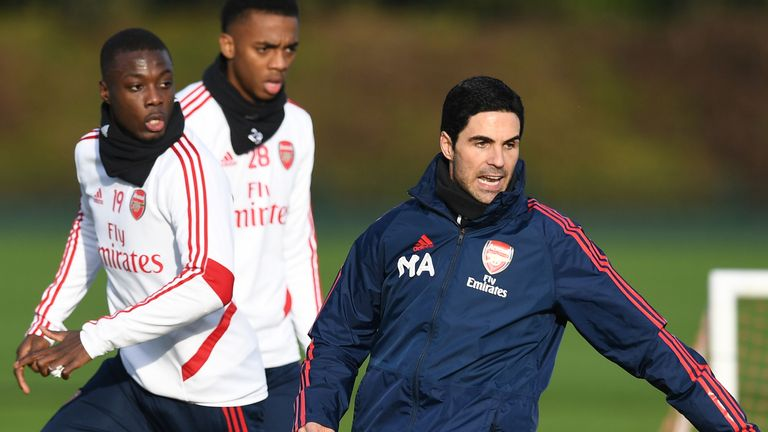 Arteta held his first training session as Arsenal Head Coach on Sunday
