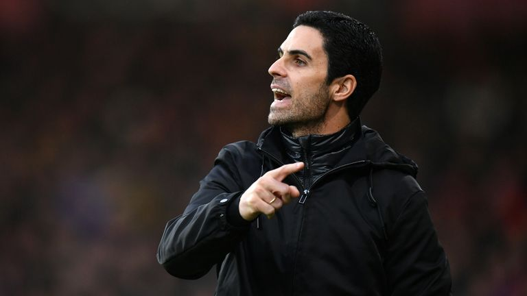 Mikel Arteta during Bournemouth vs Arsenal at the Vitality Stadium
