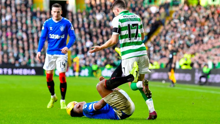 Ryan Christie clashes with Alfredo Morelos