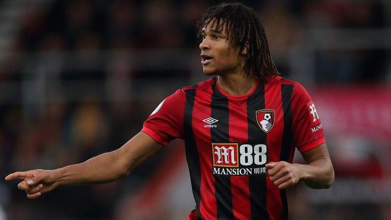 Nathan Ake in action against Liverpool