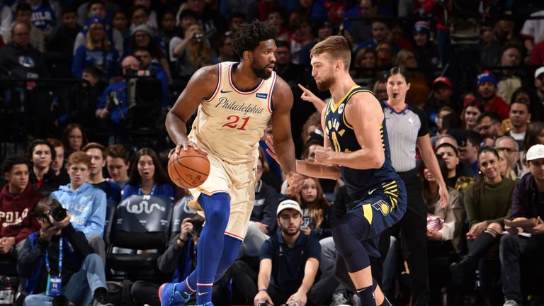 Indiana Pacers against Philadelphia 76ers in the NBA