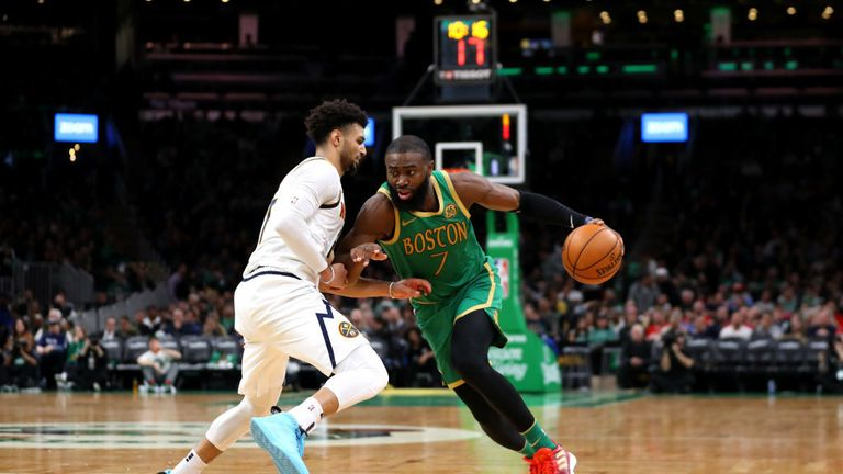 Boston Celtics against Denver Nuggets in the NBA