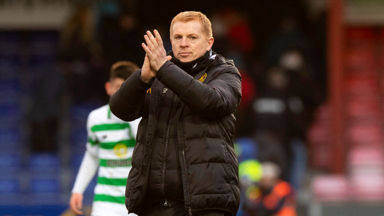 Celtic manager Neil Lennon at full time during the Premiership match between Ross County and Celtic
