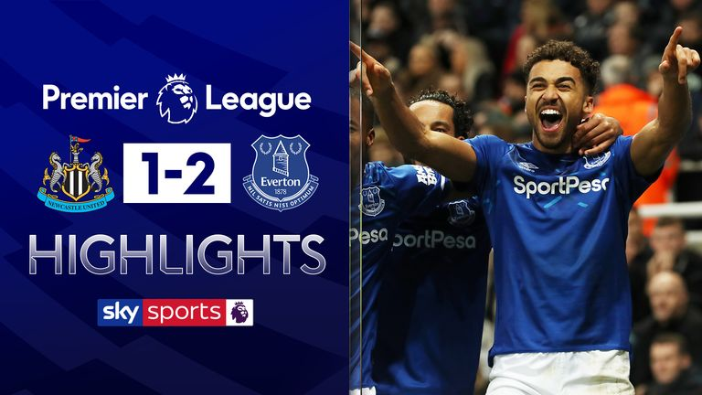 Newcastle v Everton Highlights