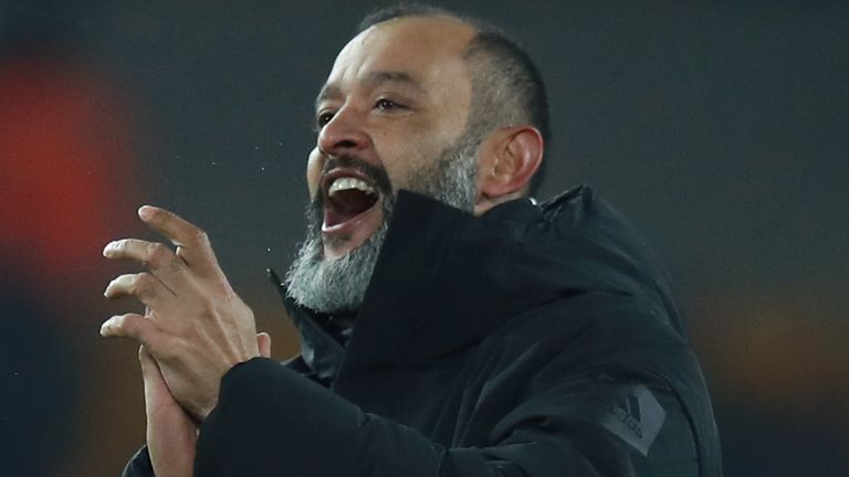 Wolves head coach Nuno Santo