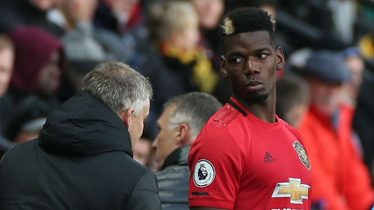Solskjaer said the return of Paul Pogba was the only positive