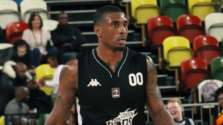 Ovie Soko during his BBL debut for the London Lions