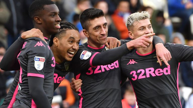 Leeds United's Pablo Hernandez scores his side's second goal of the game