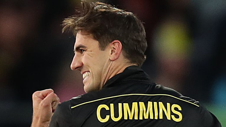 Australian Pat Cummins became the most expensive non-Indian player in the auction when he was sold to the Knight Riders for £1.6m