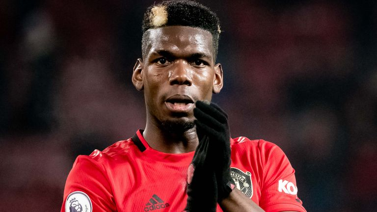 Paul Pogba was absent from the Manchester United squad that beat Burnley