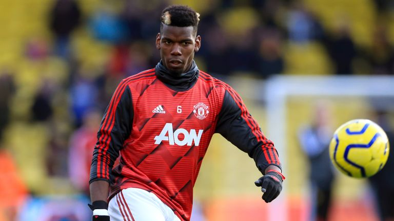 Pogba has played just eight times this season for United
