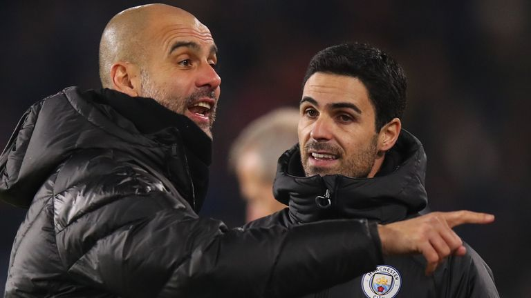 Pep Guardiola says there have been no approaches for his assistant Mikel Arteta